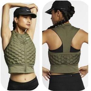 🎈💯 Nike Olive Green Vest, NWT, Sz Small